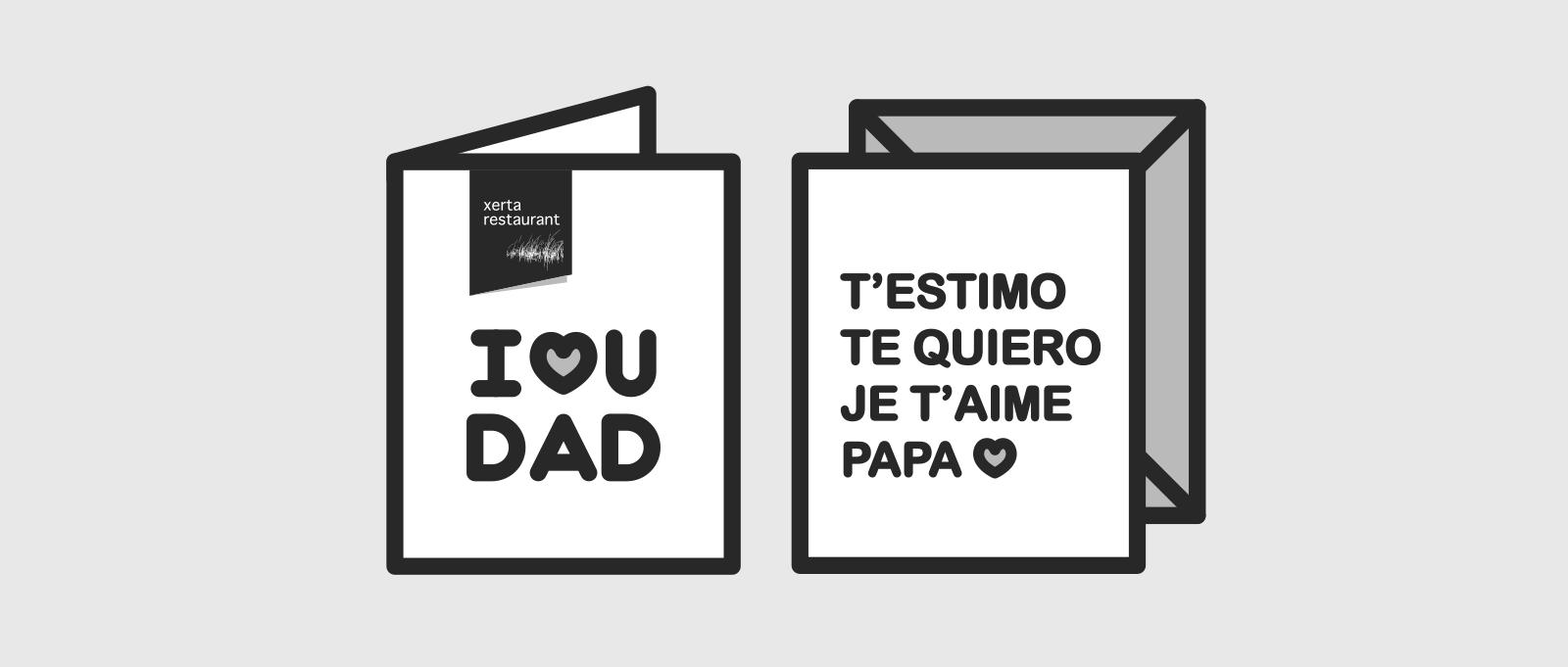 I❤U DAD - Father's Day in Barcelona - Xerta Restaurant